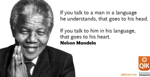 If you talk to a man in a language he understands…